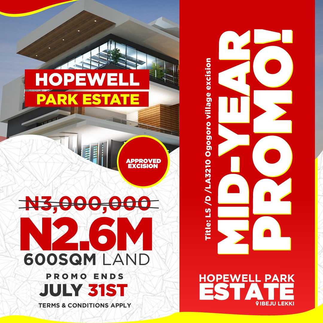Hopewell Park Estate In Ibeju Lekki For Investment Purpose In Real Estate